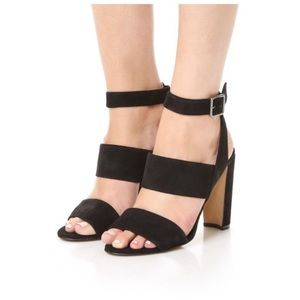 Madewell Black Suede Octavia Sandals Size 6